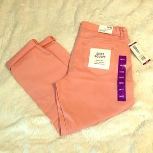 NWT Jessica Simpson Rolled Crop Skinny Color Jeans